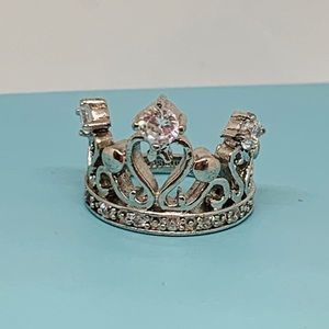 .925 Sterling Yasmin Crown Ring 6.5